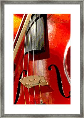 Violin And Bow Digital Painting Framed Print