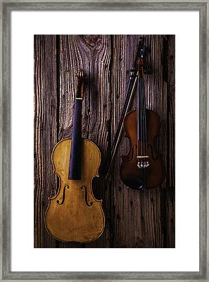 Violin And Viola Framed Print by Garry Gay