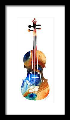 Violin Framed Prints