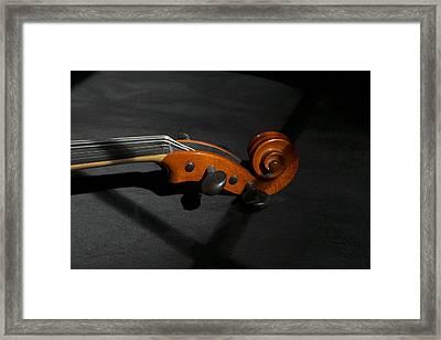 Violin In Shadow Framed Print by Mark McKinney