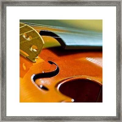 #violin #music Framed Print