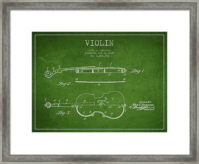 Violin Patent Drawing From 1928 Framed Print