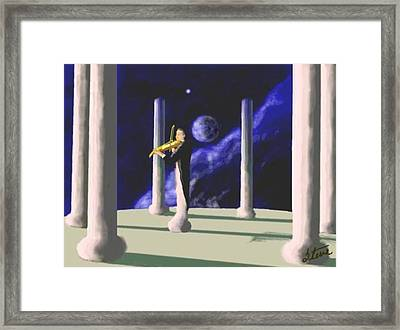 Violin Player Framed Print