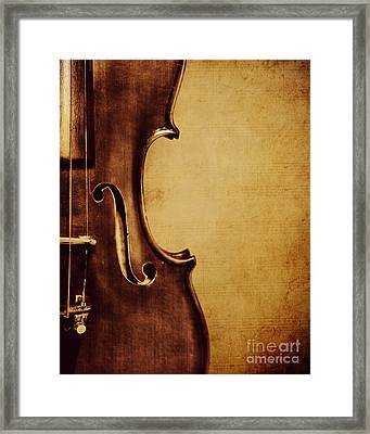 Violin Portrait  Framed Print