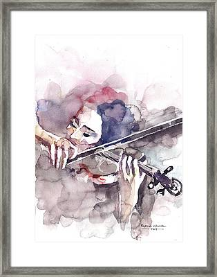 Framed Print featuring the painting Violin Prelude by Faruk Koksal