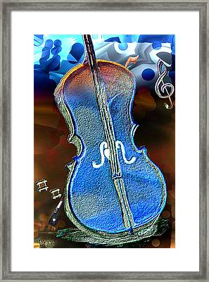 Framed Print featuring the painting Violin Solo by Paula Ayers