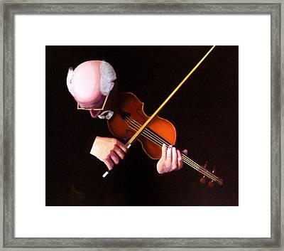 Violin Virtuoso-grandfather Inspired Framed Print