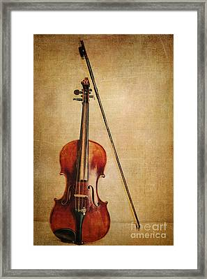 Violin With Bow Framed Print