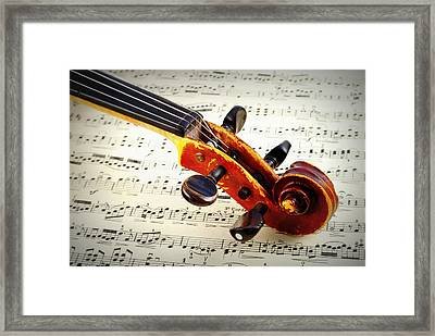 Violine Framed Print