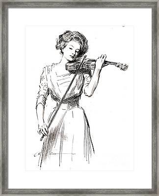 Violinist 1910 Framed Print