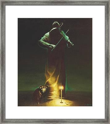 Violinist Framed Print by Andrej Vystropov