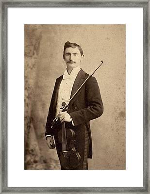 Violinist, C1900 Framed Print
