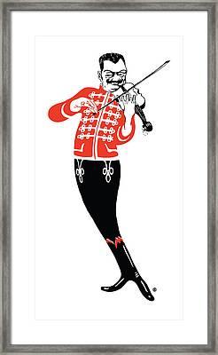 Violinist Framed Print by Gary Grayson