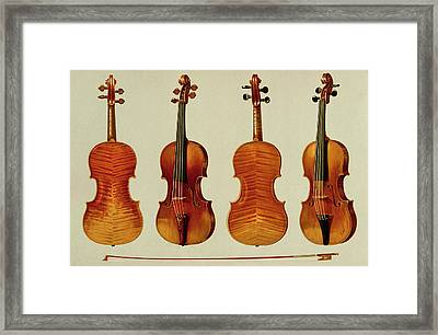 Violins Framed Print by Alfred James Hipkins