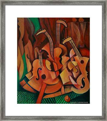 Violins With Mandolin Framed Print