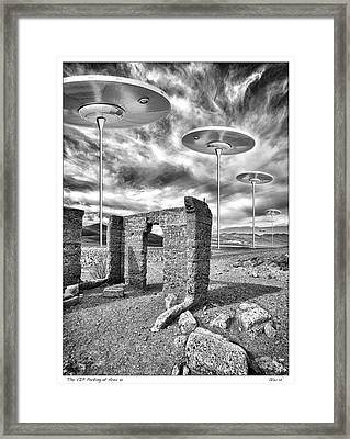 Vip Parking At Area 51 Framed Print