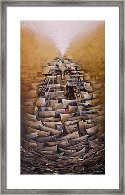 Vipassana. Destruction Of Concepts Framed Print by Vrindavan Das