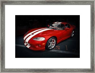 Viper Gts Framed Print by Ronda Broatch
