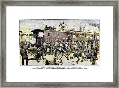 Virden Massacre 1898 Framed Print by Granger