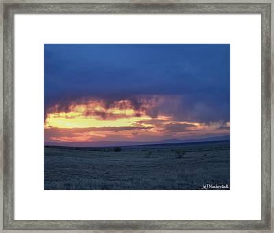 Virga Sunset Framed Print