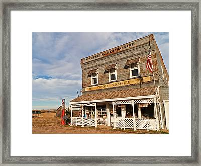 Virgelle Mercantile Framed Print by Sue Smith