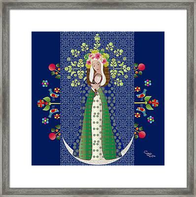 Virgen Chinita Framed Print