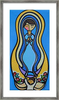 Virgen De Guadalupe Framed Print by Mary Tere Perez
