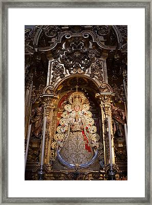 Virgen Del Rocio Reredos In Seville Cathedral Framed Print