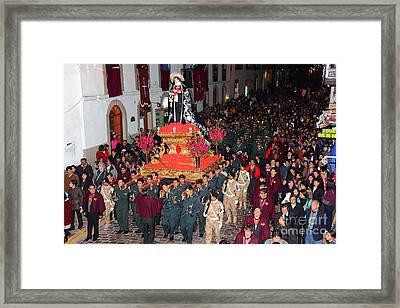 Virgen Dolorosa Procession Cusco Framed Print