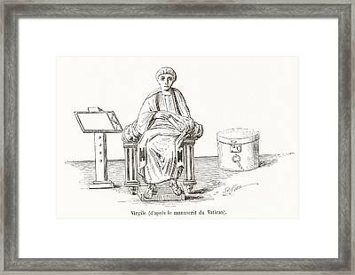 Virgil, Roman Poet Framed Print by Middle Temple Library