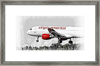 Framed Print featuring the photograph Virgin America Mach Daddy  by Aaron Berg