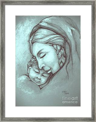 Virgin And Child Framed Print by Craig Green