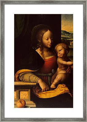Virgin And Child Framed Print by Joos van Cleve