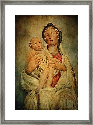 Virgin And Child  Framed Print by Maria Angelica Maira