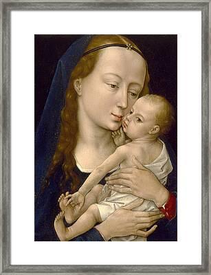 Virgin And Child Framed Print by Rogier van der Weyden