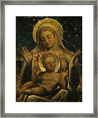 Virgin And Child Signed And Dated In Lower Right Freso | Framed Print by Litz Collection