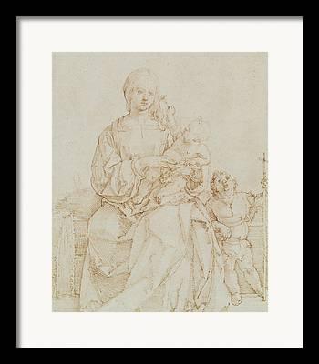 The Christ Ink Drawing Framed Prints