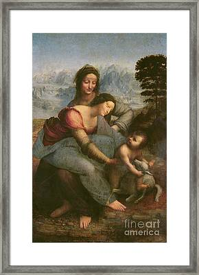 Virgin And Child With Saint Anne Framed Print by Leonardo Da Vinci
