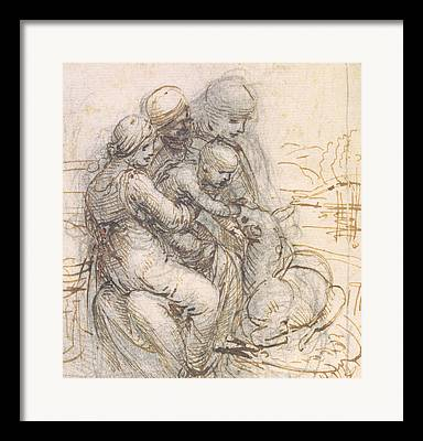 Virgin And Child With St. Anne Framed Prints