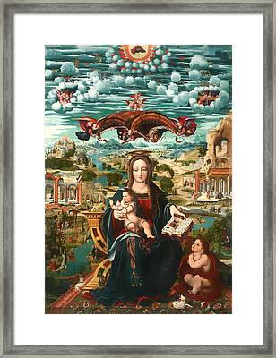 Virgin And Child With The Infant Saint John Framed Print by Mountain Dreams