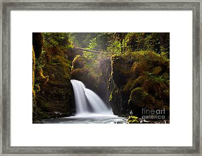 Virgin Creek Falls Framed Print by Chris Heitstuman