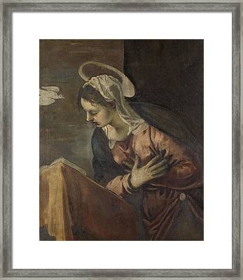 Virgin From The Annunciation To The Virgin Framed Print by Litz Collection