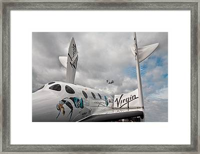 Virgin Galactic Vss Enterprise With Osprey Framed Print by Shirley Mitchell