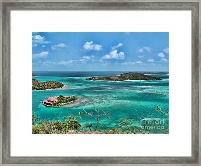 Gorda Sound Bvi Framed Print by Kelley Freel-Ebner