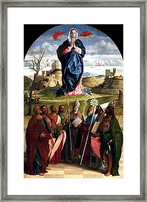 Virgin In Glory With Saints 1515 Giovanni Bellini Framed Print