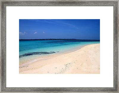 Framed Print featuring the photograph Virgin Island Cebu by Joey Agbayani