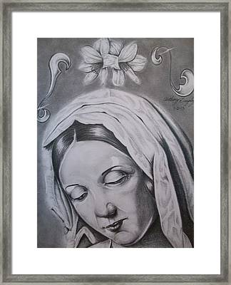 Virgin Mary Framed Print by Anthony Gonzalez