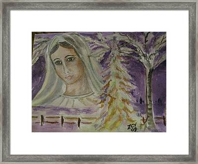 Virgin Mary At Medjugorje Framed Print