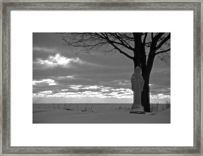 Virgin Mary At Sunset In South Haven Michigan Framed Print by Dan Sproul