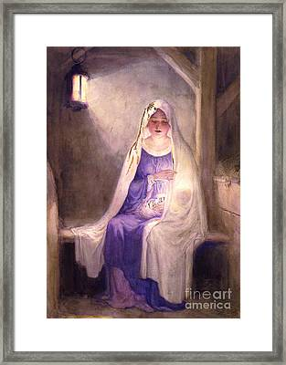 Virgin Mary Holding Baby Jesus 1912 Framed Print